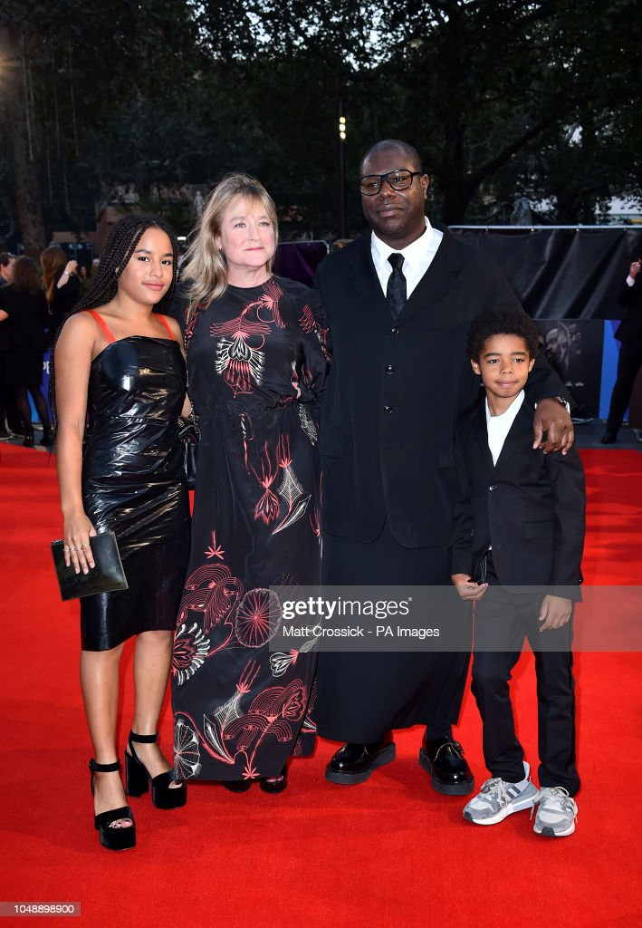 Director Steve McQueen with wife Bianca Stigter and their ...