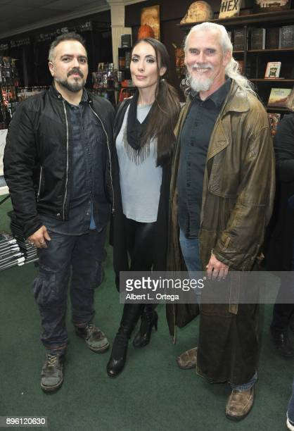 Director Steven Ayromlooi actress Mandy Amano and actor Camden Toy at Guillermo del Toro's The Shape Of Water signing held at Dark Delicacies...