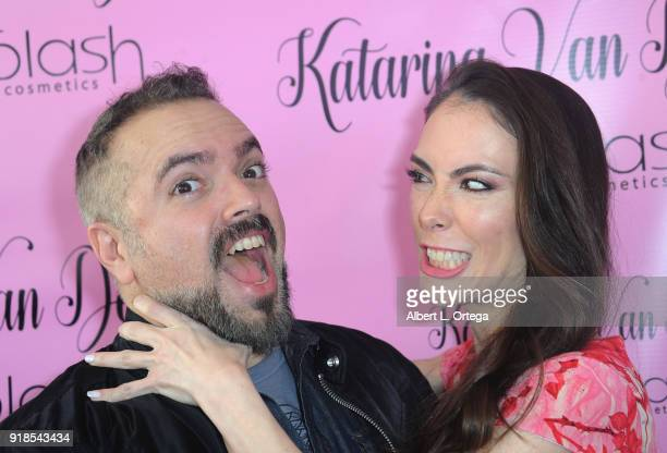 Director Steven Ayromlooi and actress Mandy Amano attend the Valentine's Day Meet And Greet and Taping of docuseries 90s Girl For Katarina Van...