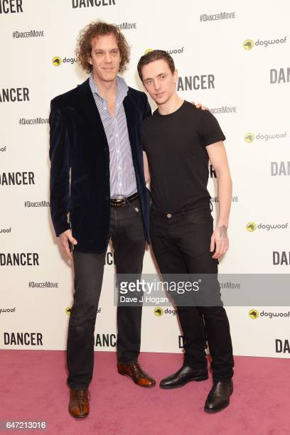 Director Steven Cantor and Sergei Polunin attend the premiere of 'Dancer' on March 2 2017 in London England