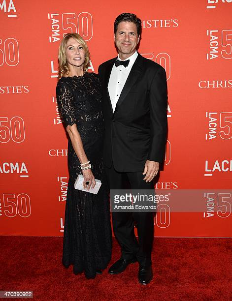 Director Steven Levitan and Krista Levitan arrive at LACMA's 50th Anniversary Gala at LACMA on April 18 2015 in Los Angeles California