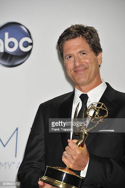 Director Steven Levitan poses with his Emmy for Outstanding Directing for a Comedy Series Modern Family / Baby on Board at the 64th Annual Emmy...