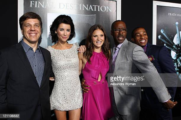 Director Steven Quale, Jacqueline Macinnes Wood, Ellen Wroe, Courtney B. Vance and Arlen Escarpeta arrive at The Final Destination 5 Los Angeles...