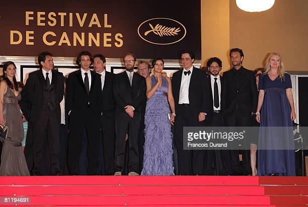 "Director Steven Soderbergh, actress Catalina Sandino Moreno, actor Benicio Del Toro with cast and crew depart the ""Che"" premiere at the Palais des..."