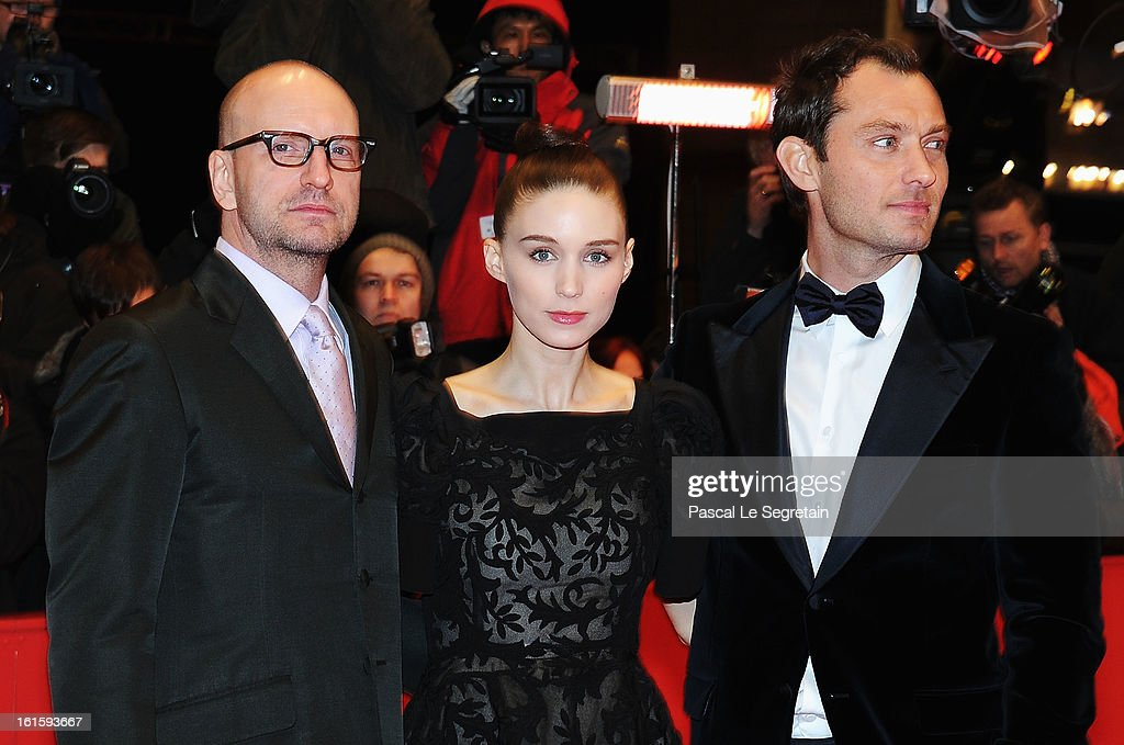 Director Steven Soderbergh, actress Rooney Mara and actor Jude Law attend the 'Side Effects' Premiere during the 63rd Berlinale International Film Festival at Berlinale Palast on February 12, 2013 in Berlin, Germany.