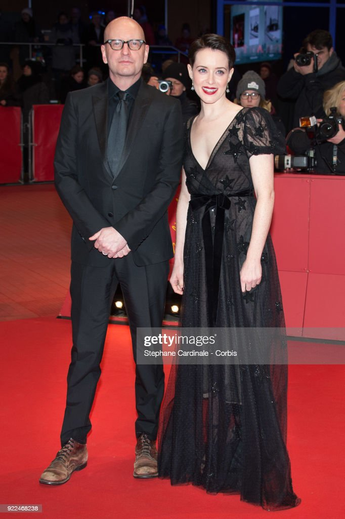 Director Steven Soderbergh and actress Claire Foy attend the 'Unsane' premiere during the 68th Berlinale International Film Festival Berlin at Berlinale Palast on February 21, 2018 in Berlin, Germany.