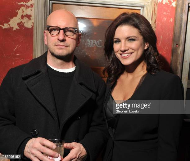 Director Steven Soderbergh and actress Gina Soderbergh attend the Cinema Society Blackberry Bold screening after party for Haywire at Sons of Essex...