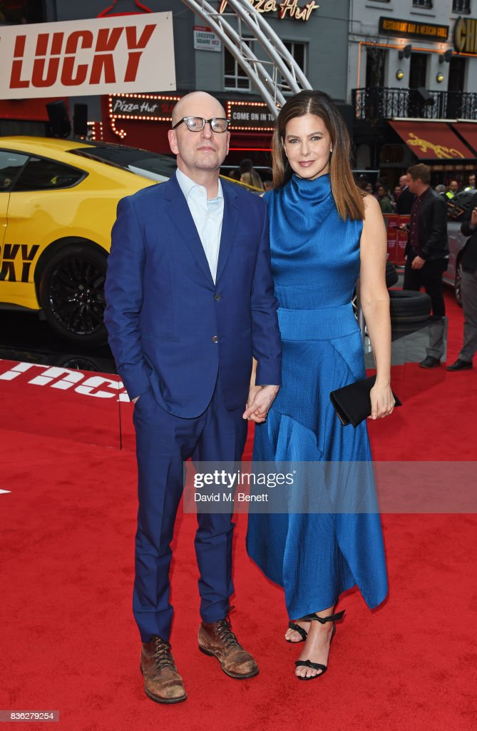 Director Steven Soderbergh (L) and Jules Asner attend the 'Logan Lucky' UK Premiere at Vue West End on August 21, 2017 in London, England.
