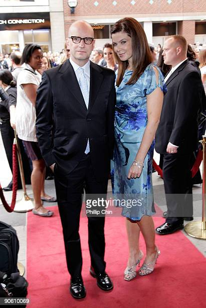 Director Steven Soderbergh and Jules Asner attend the The Informant premiere at the Elgin Theatre during the 2009 Toronto International Film Festival...