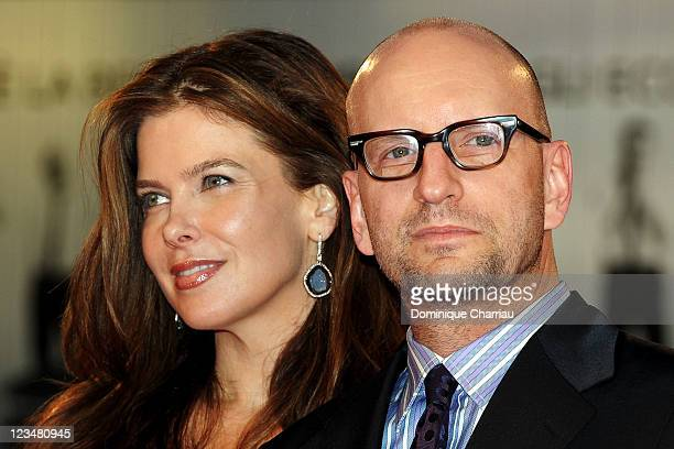 Director Steven Soderbergh and wife Jules Asner attend the Contagion Premiere during the 68th Venice International Film Festival at Palazzo del...