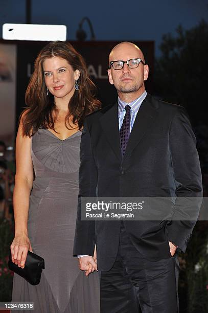Director Steven Soderbergh and wife Jules Asner attends the Contagion premiere during the 68th Venice Film Festival at Palazzo del Cinema on...