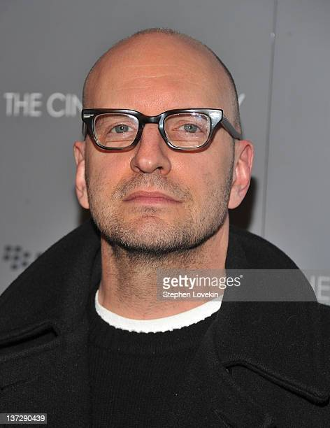 Director Steven Soderbergh attends the Cinema Society Blackberry Bold screening of 'Haywire' at Landmark Sunshine Cinema on January 18 2012 in New...