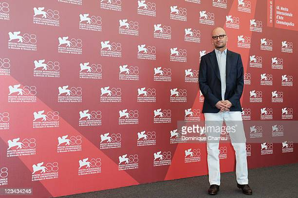 Director Steven Soderbergh attends the Contagion Photocall during the 68th Venice International Film Festival at Palazzo del Casino on September 3...