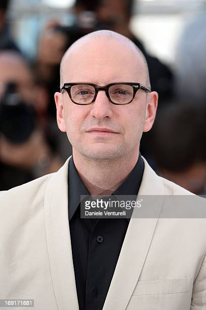 Director Steven Soderbergh attends the photocall for 'Behind the Candelabra' during the 66th Annual Cannes Film Festival at Palais des Festivals on...