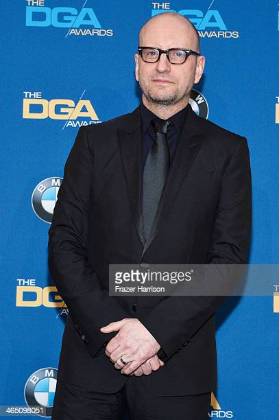 Director Steven Soderbergh recipient of the Robert B Aldrich Service Award poses in the press room during the 66th Annual Directors Guild Of America...