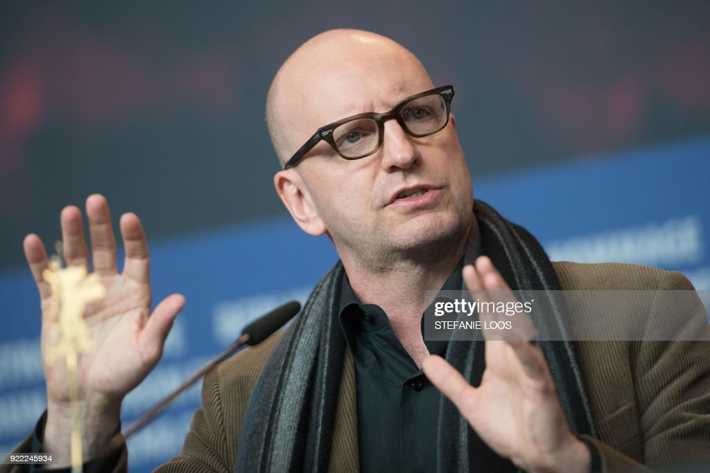 US director Steven Soderbergh speaks during a press conference for the film 'Unsane' presented in competition during the 68th edition of the Berlinale film festival in Berlin on February 21, 2018. / AFP PHOTO / Stefanie LOOS