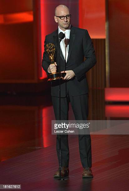 Director Steven Soderbergh speaks onstage during the 65th Annual Primetime Emmy Awards held at Nokia Theatre LA Live on September 22 2013 in Los...