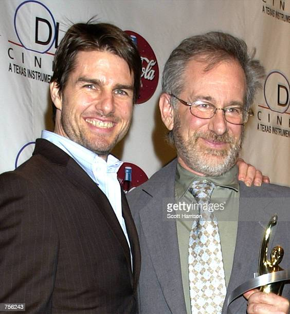 Director Steven Spielberg and actor Tom Cruise attends the ShoWest Gala Awards March 7 2002 at the Paris Hotel in Las Vegas NV Cruise recently became...