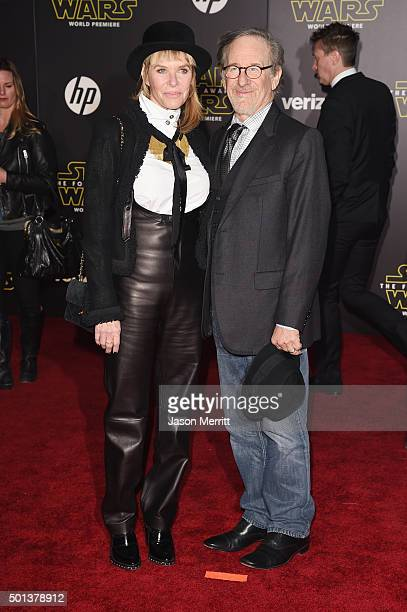 Director Steven Spielberg and actress Kate Capshaw attend Premiere of Walt Disney Pictures and Lucasfilm's Star Wars The Force Awakens on December 14...