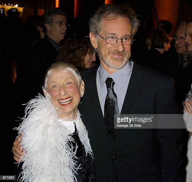 Director Steven Spielberg and his mother attend the Shoah Foundation's Humanity Through Technology awards gala January 10 2001 at The Museum of...