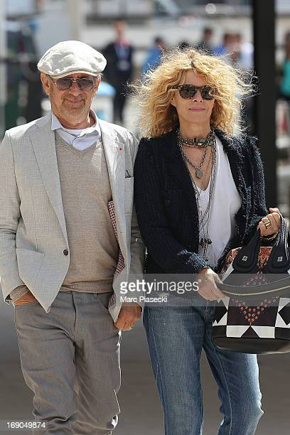 Director Steven Spielberg and his wife Kate Capshaw are seen on the Cannes harbour during the 66th Annual Cannes Film Festival on May 19 2013 in...