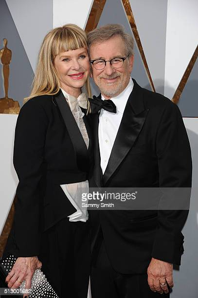 Director Steven Spielberg and Kate Capshaw attend the 88th Annual Academy Awards at Hollywood Highland Center on February 28 2016 in Hollywood...
