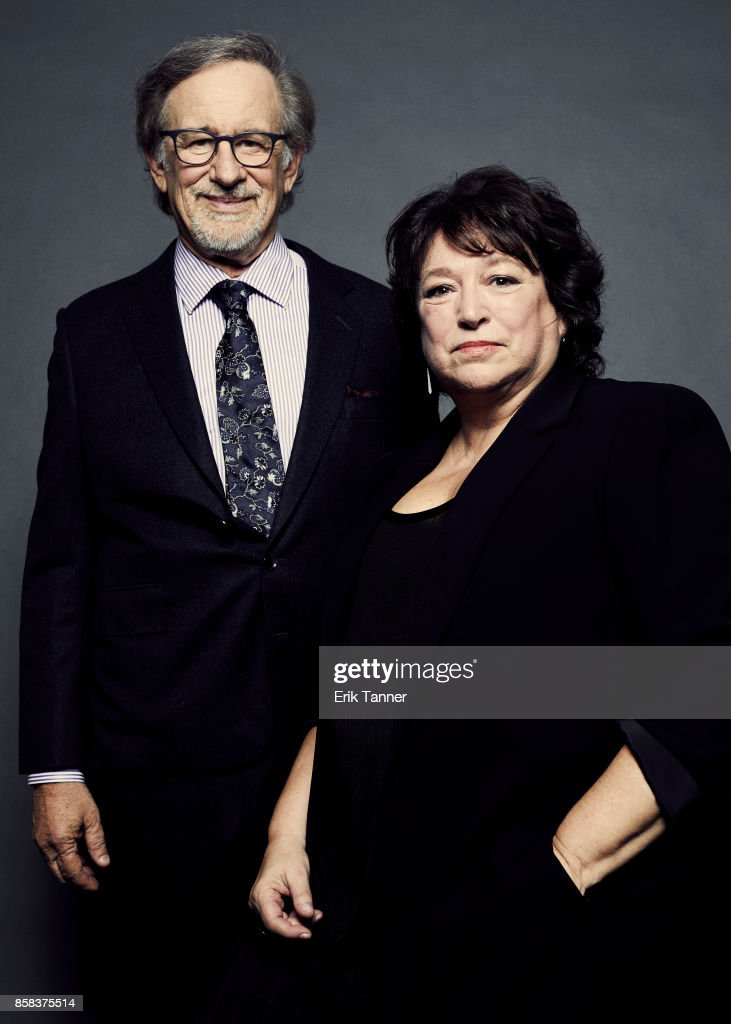 Director Steven Spielberg and Susan Lacy pose for a portrait at the 55th New York Film Festival on October 5, 2017.