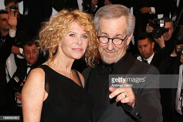 Director Steven Spielberg and wife actress Kate Capshaw attend the 'Jimmy P ' Premiere during the 66th Annual Cannes Film Festival at the Palais des...