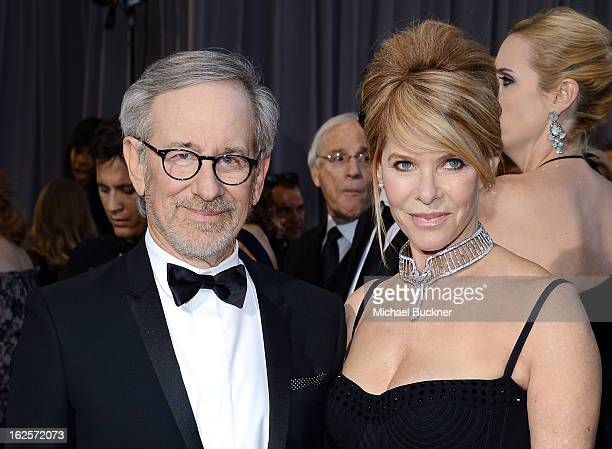 Director Steven Spielberg and wife Kate Capshaw arrive at the Oscars at Hollywood Highland Center on February 24 2013 in Hollywood California