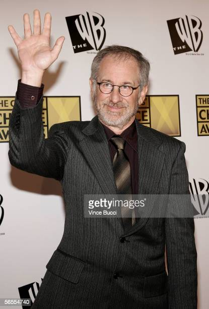 Director Steven Spielberg arrives at the 11th Annual Critics' Choice Awards held at the Santa Monica Civic Auditorium on January 9, 2006 in Santa...