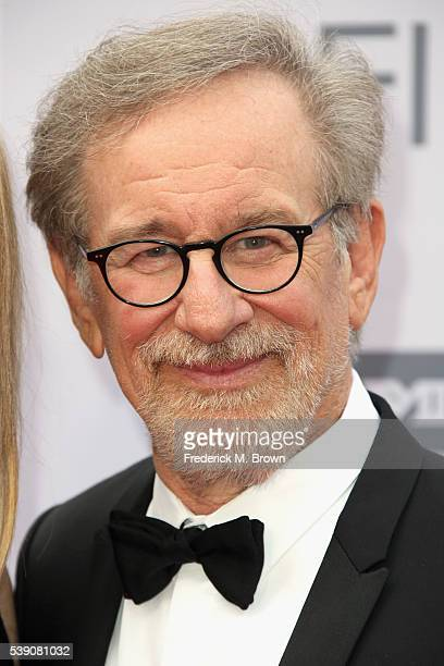Director Steven Spielberg arrives at the American Film Institute's 44th Life Achievement Award Gala Tribute to John Williams at Dolby Theatre on June...