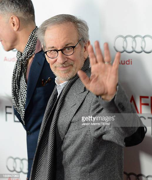Director Steven Spielberg arrives at the Lincoln premiere during AFI Fest 2012 presented by Audi at Grauman's Chinese Theatre on November 8 2012 in...