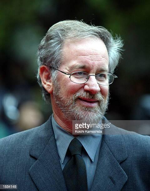 Director Steven Spielberg arrives at the opening of 2002 Tokyo International Film Festival October 26, 2002 in Tokyo, Japan.