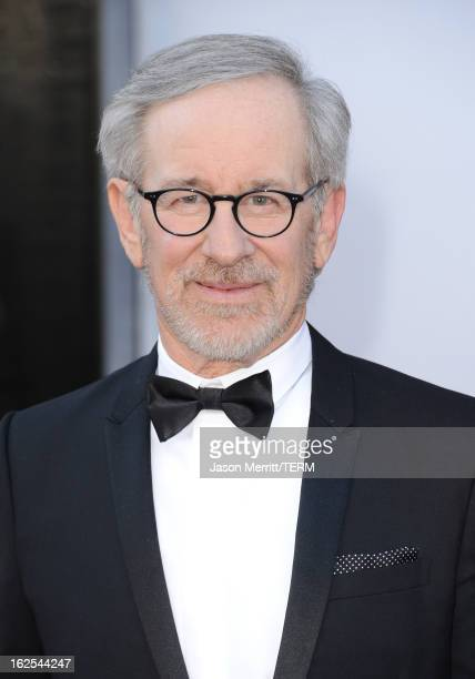 Director Steven Spielberg arrives at the Oscars at Hollywood Highland Center on February 24 2013 in Hollywood California