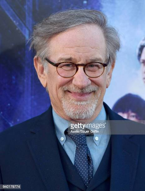 Director Steven Spielberg arrives at the Premiere of Warner Bros Pictures' 'Ready Player One' at Dolby Theatre on March 26 2018 in Hollywood...