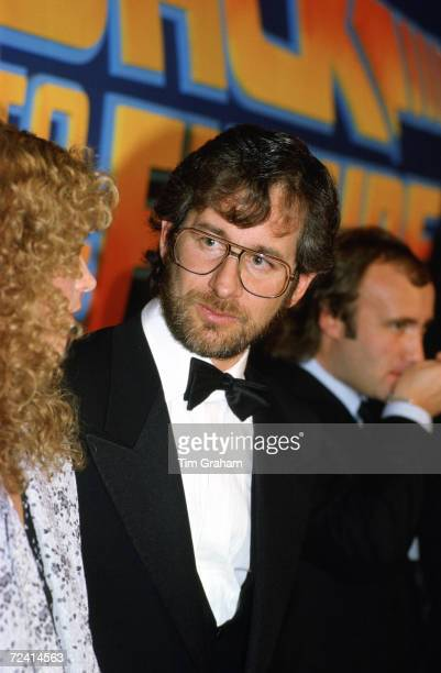 Director Steven Spielberg attending the premiere of 'Back to the Future' at the Empire Cinema Leicester Square United Kingdom