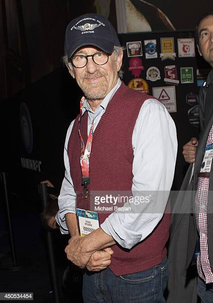 Director Steven Spielberg attends 2014 E3 Electronic Entertainment Expo Day 3 at Los Angeles Convention Center on June 12 2014 in Los Angeles...