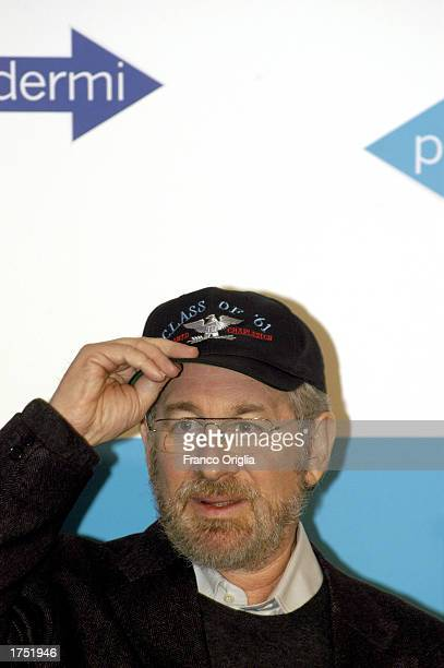 Director Steven Spielberg attends a promotional viewing of his new film Catch Me If You Can at the Cinema Adriano January 29 2003 in Rome Italy
