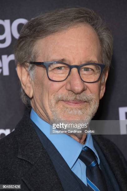 Director Steven Spielberg attends 'Pentagon Papers' Premiere at Cinema UGC Normandie on January 13 2018 in Paris France