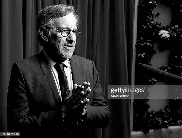 Director Steven Spielberg attends the 16th Annual AFI Awards at Four Seasons Hotel Los Angeles at Beverly Hills on January 8 2016 in Beverly Hills...