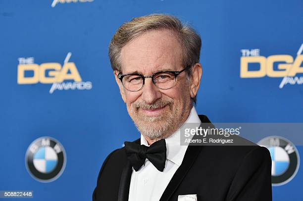 Director Steven Spielberg attends the 68th Annual Directors Guild Of America Awards at the Hyatt Regency Century Plaza on February 6 2016 in Los...