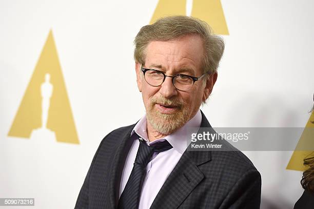 Director Steven Spielberg attends the 88th Annual Academy Awards nominee luncheon on February 8 2016 in Beverly Hills California