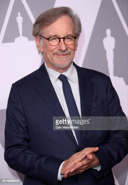 Director Steven Spielberg attends the 90th Annual Academy Awards Nominee Luncheon at The Beverly Hilton Hotel on February 5 2018 in Beverly Hills...