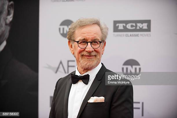 Director Steven Spielberg attends the American Film Institute's 44th Life Achievement Award Gala Tribute to John Williams at Dolby Theatre on June 9...