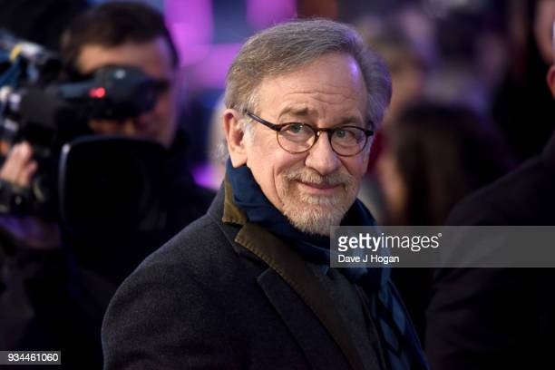 Director Steven Spielberg attends the European Premiere of 'Ready Player One' at Vue West End on March 19, 2018 in London, England.