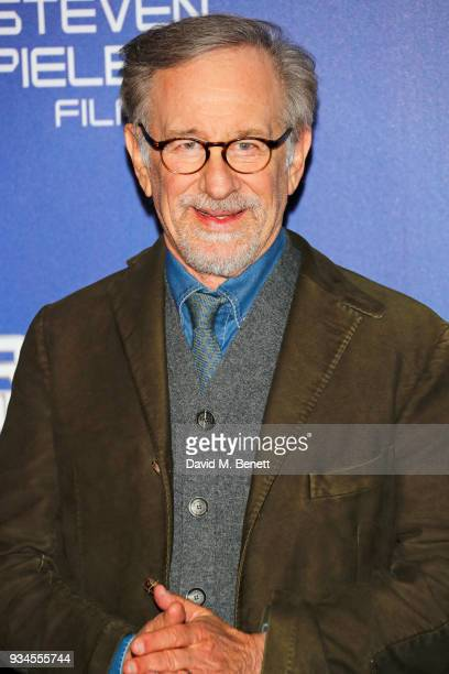 Director Steven Spielberg attends the European Premiere of 'Ready Player One' at the Vue West End on March 19 2018 in London England