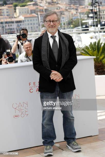 Director Steven Spielberg attends the photocall of 'The BFG' during the 69th Annual Cannes Film Festival at Palais des Festivals in Cannes, France,...