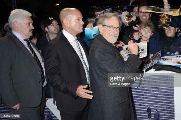 Director Steven Spielberg attends 'The Post' European Premiere at Odeon Leicester Square on January 10 2018 in London England