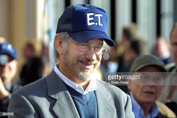 Director Steven Spielberg attends the premiere of the 20th anniversary version of his movie ET The ExtraTerrestrial March 16 2002 in Los Angeles CA