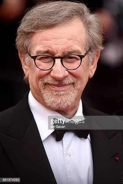 Director Steven Spielberg attends the 'The BFG' Premiere during the annual 69th Cannes Film Festival at the Palais des Festivals on May 14 2016 in...